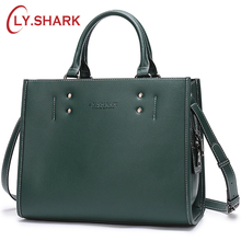 купить LY.SHARK designer Bag Women Handbag Female Bag ladies genuine leather crossbody messenger bag women shoulder bag famous brand дешево