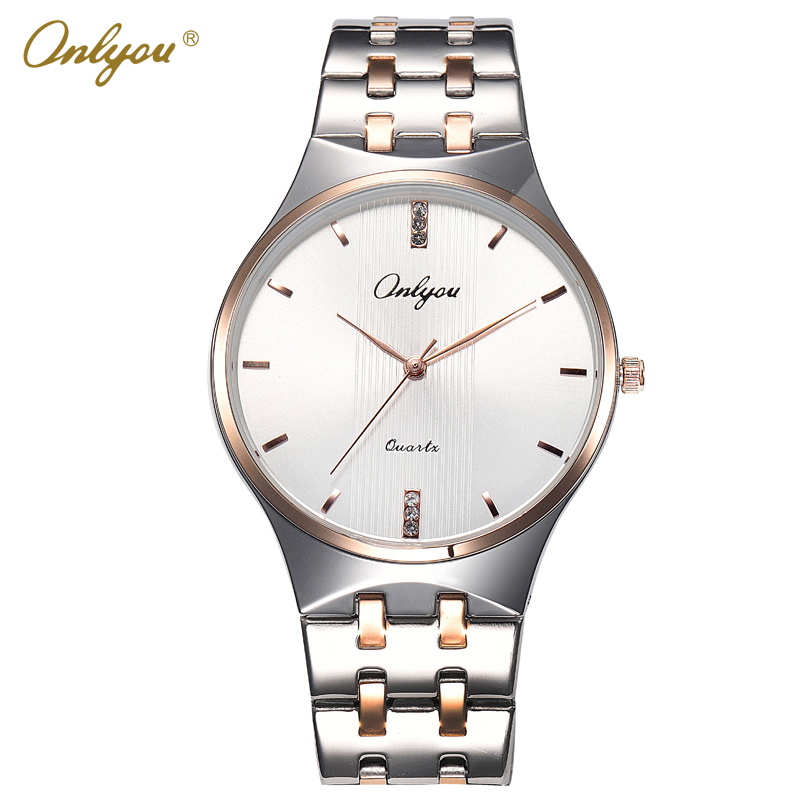 Onlyou Luxury Brand Lovers Watch Fashion Quartz Watches Women Men Business Casual Ladies Gold Wrist Watch Male Female Clock 8828 nary brand lovers fashion wrist wristwatches men s leather strap watches ladies designer luxury casual watch for women