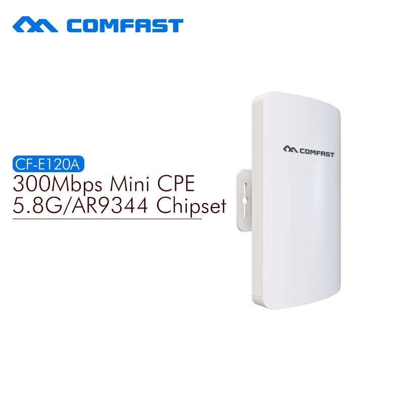 5.8G mini outdoor wireless cpe AR9344 chip with Antena wi-fi wireless router comfast 300M CF-E120A network bridge repeater