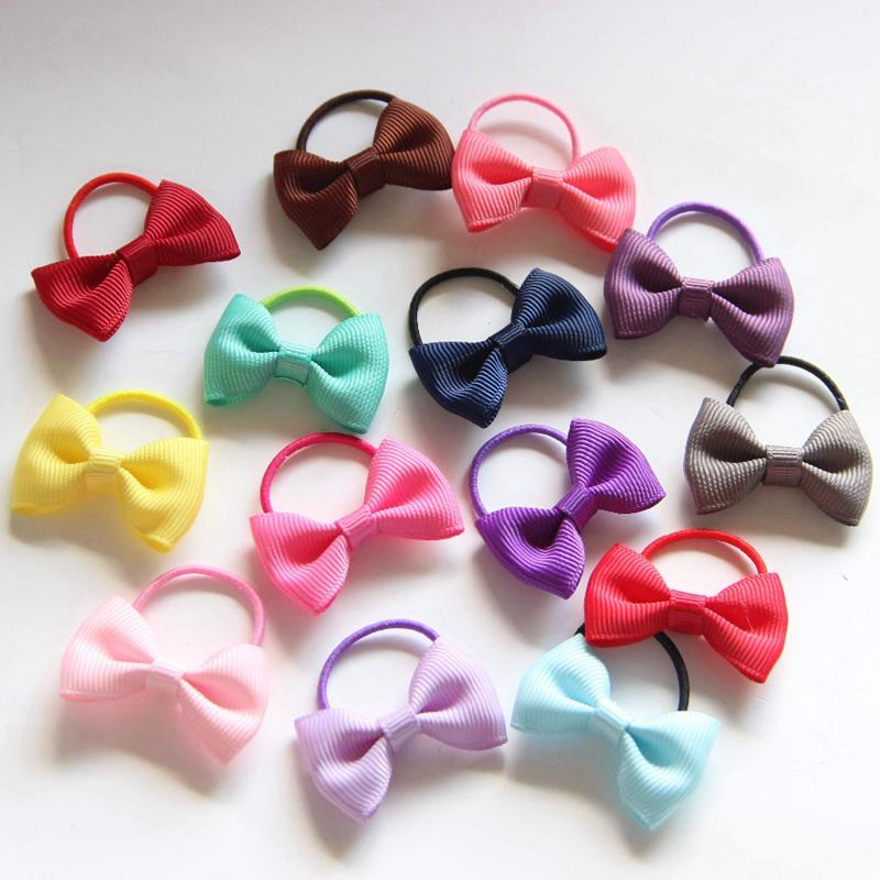 10PCS Baby Girl toddlers hairband Hair Bows Clips with elastic headbands LP