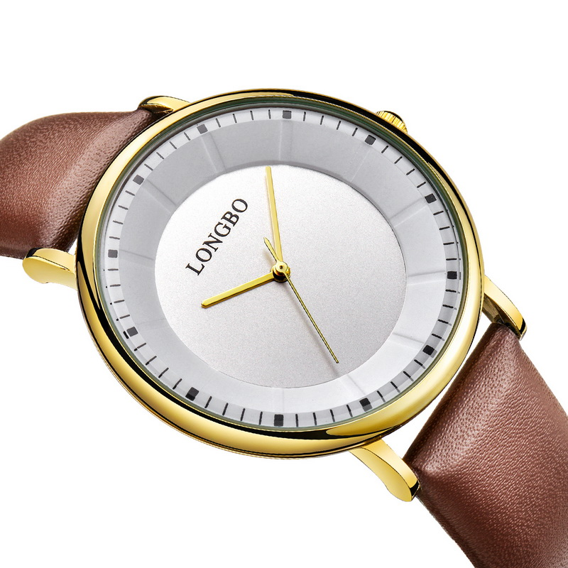 2017 LONGBO Luxury Quartz Watch Casual Fashion Leather Watches Men Women Couple Watch Sports Analog Wristwatch Gift 80238
