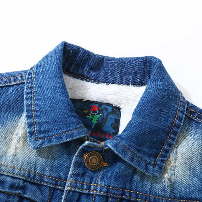 Куртка для маленьких мальчиков зимняя коллекция 2018 года, детская одежда детские теплые вельветовые пальто с длинными рукавами детские джинсы Jaqueta Infantil Casacas Menino