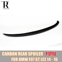 F07 M производительность Стиль углерода Волокно задний спойлер крыла для BMW f07 535i 550i 530d 535d GT LCI 2014 2015 2016 P Стиль