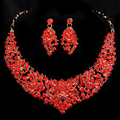 Piercing Collares Earrings Fine Sets African Jewelry Bridal Maxi Necklaces+ Pendientes Gold Plated Wedding Joyeria Women