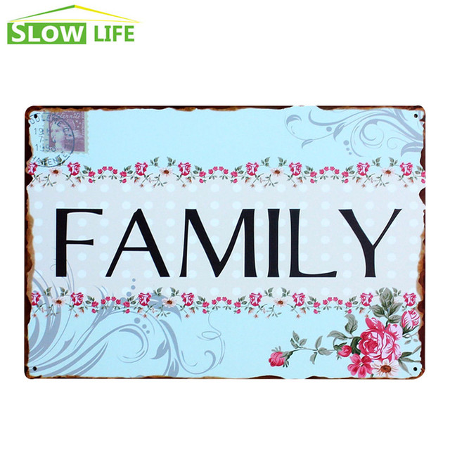 Wholesale Family Metal Tin Sign Family House Wall Decor Metal Sign Mesmerizing Wholesale Home Decor Signs