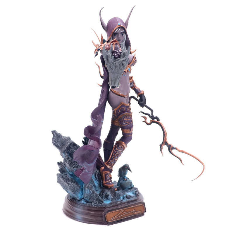 Collectible Toys  Sylvanas Windrunner Archery Queen PVC Anime Action Figure Model With Base for Children Birthday Gift