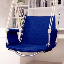 Garden Patio Porch Hanging Cotton Rope Swing Chair Seat Hammock Swinging  Wood Outdoor Indoor Swing Seat ...