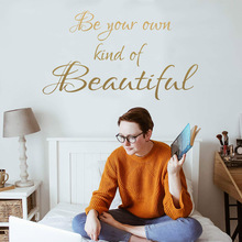 Hot Quotes Sentences Phrases Be Kind of Beautiful Wall Sticker Art Decor For Living Room Decoration Vinyl wall Decal sticker