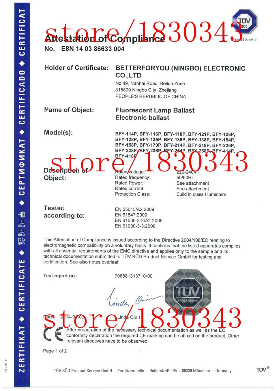 EMC CERTIFICATION(CE+TUV)