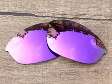 Plasma Purple Mirror Polarized Replacement Lenses For Half Jacket Sunglasses Frame 100% UVA & UVB Protection