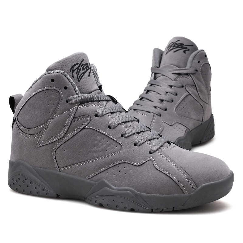 6e2646222b2eb2 ... Autumn and Winter Jordan 7 High Shoes Men s Basketball Shoes Sneakers  Man Antiskid Jordan AJ 7 ...