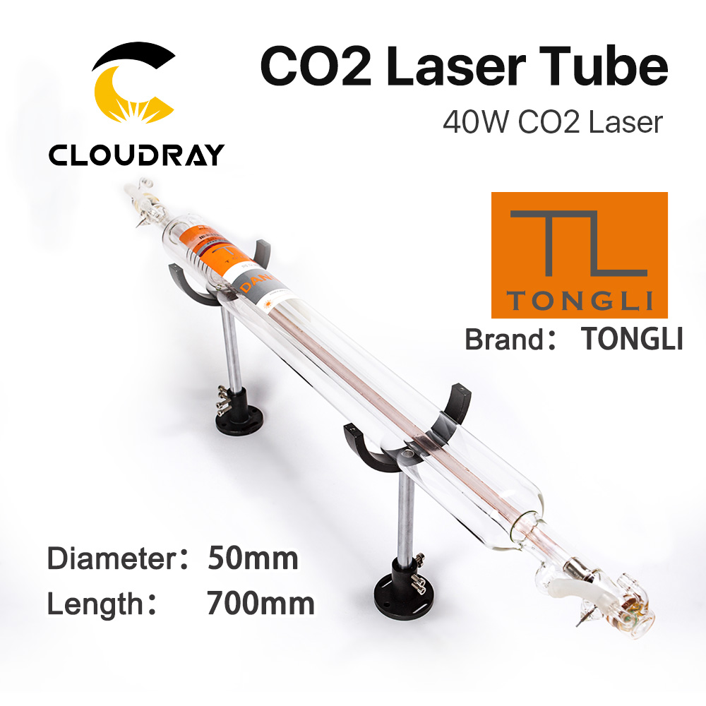 Cloudray TONGLI 700MM 40W Co2 Laser Tube Glass Pipe for CO2 Laser Engraving Cutting Machine TL