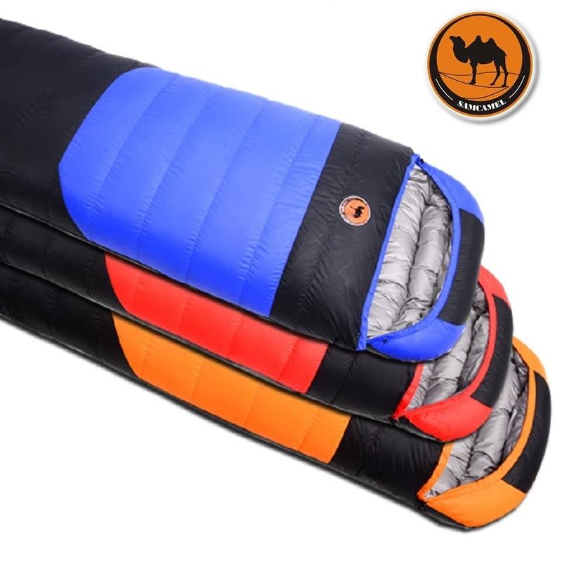 2018 Camcel 1 5 1 7kgs Ultralight Camping Sleeping Bag Envelope White Duck Down Sleeping Bag