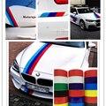 5 M 4 Color 3D Etiqueta Engomada Del Coche Alemania Italia Bandera de REINO UNIDO raya Estilo de calcomanías de Vinilo Capó Etiqueta Engomada Del Vehículo Automóvil Pegatinas
