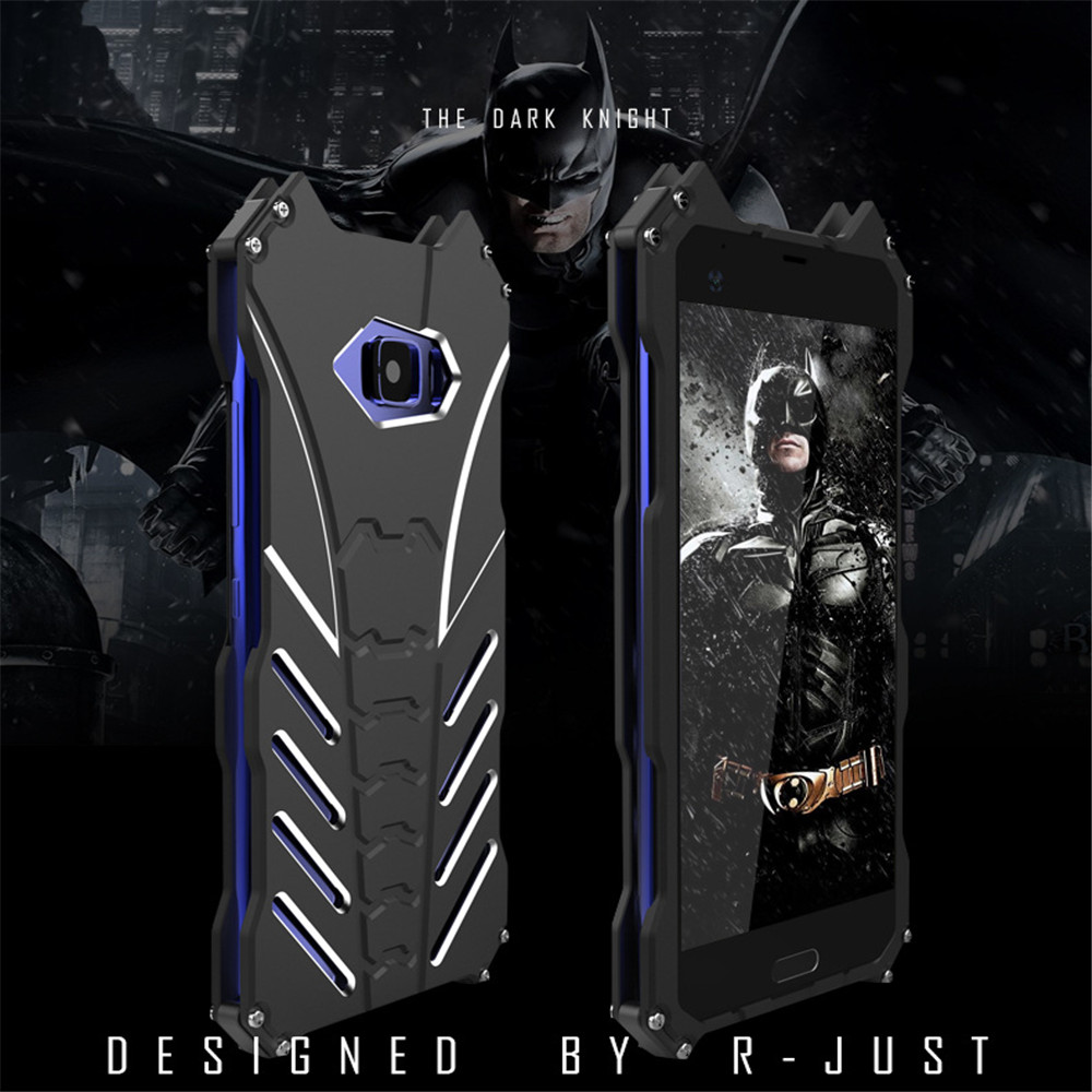 For HTC U ULTRA Case Armor Heavy Dust Metal Aluminum CNC BATMAN Protect Skeleton Head Phone Shell Case Cover+bracket