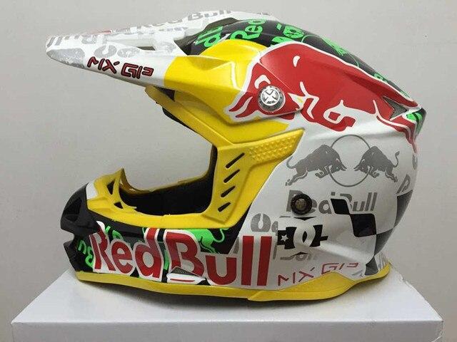 2015 New Arrival Motocross Helmet Professional Red Bull Rally Racing