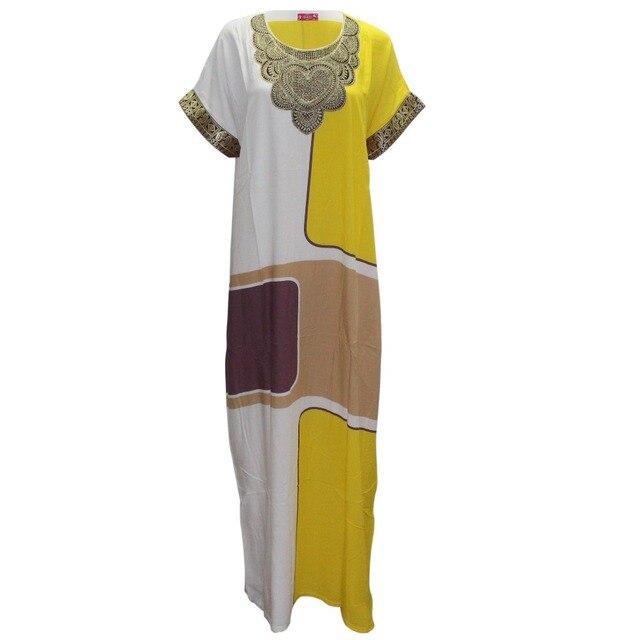 1a8157f3905 Tilapia décontracté femmes été lâche robe ankara style plaid maxi longue  mode robe appliques droite mince