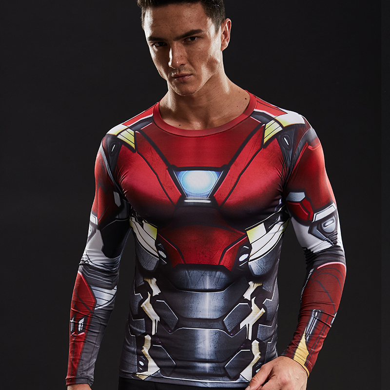 Buy iron man 3d printed t shirts men for Iron man shirt for men