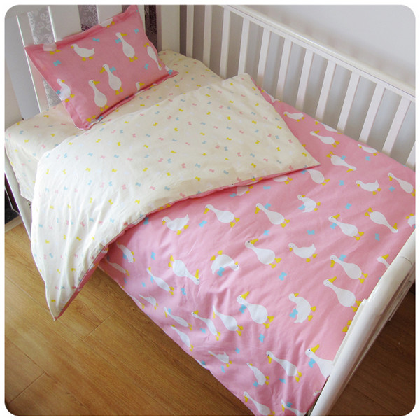Discount! 3pcs Crib Bedding Set Baby Bedding for Newborns Crib Sset ,include(duvet cover +sheet+pillowcase)