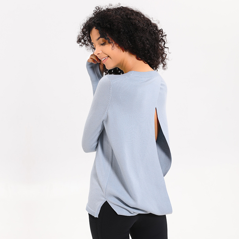 b08be726 UA ROCK New Style Wool Fabric sports fitness Long sleeved t-shirt Loose  breathable back