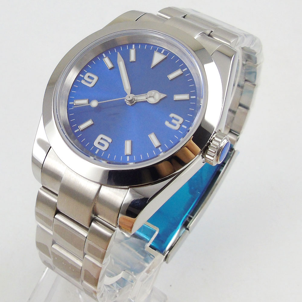 Fashional Nologo Sapphire Glass 40mm BLIGER Automatic Mens Watch Polished Watch Case 21 jewels MIYOTA 8215Fashional Nologo Sapphire Glass 40mm BLIGER Automatic Mens Watch Polished Watch Case 21 jewels MIYOTA 8215