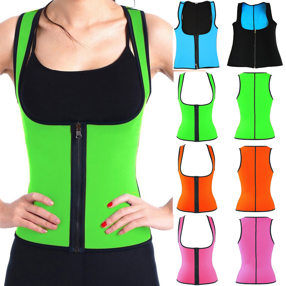 Neoprene Shapers Waist Trainer Corsets Hot Body Shaper Weight Lossing Tank Tops Sweat Slimmer Vest Tummy Fat Burner Girdles