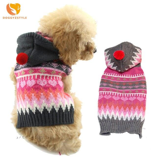 Navidad copo de nieve perro mascota suéter invierno cálido perro abrigo ropa cachorro gato Sudadera con capucha para perros pequeños medio DOGGYZSTYLE