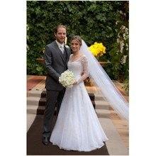 kissbridal Wedding Dresses A-line Bride Dress Long Sleeve