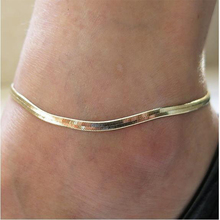 Europe And the United States foreign trade metal chain fine fish scales anklet high-grade snake bone bracelet gold si