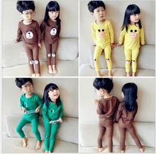2016 autumn set Korean men and women baby Home clothing children 's wear pajamas underwear setss