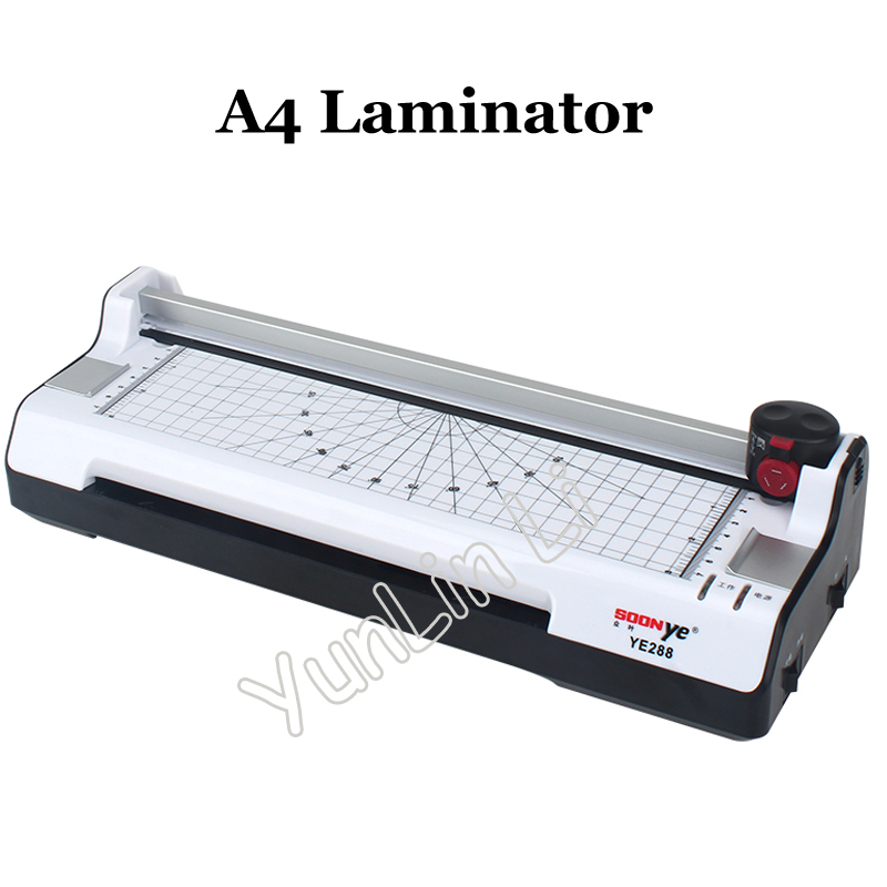 A4 Laminating Machine Smart Photo Laminator Hot And Cold Laminator Photo Cutter YE288 cewaal 2017 cla403l a4 photo laminator paper film document thermal hot