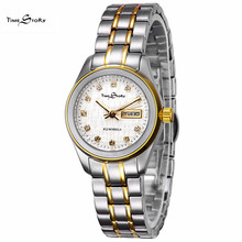 New Luxury Brand Watches women Full Steel Calendar Wrist watches Women Automatic Mechanical Fashion OL Lady