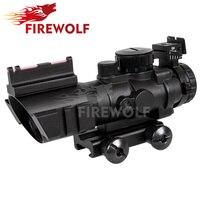 4x32 Acog Riflescope 20mm Dovetail Reflex Optics Scope Tactical Sight For Hunting Gun Rifle Airsoft Sniper