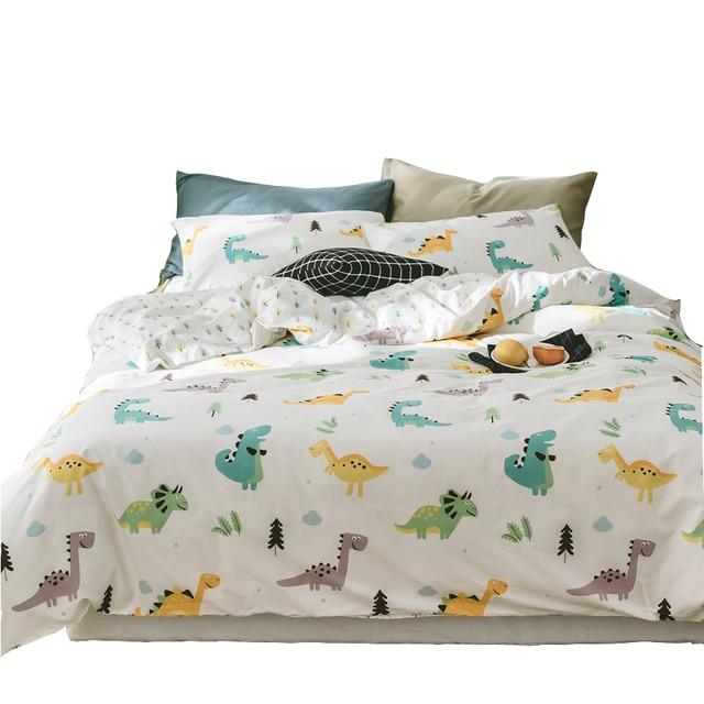 cartoon dinosaur duvet cover set twin queen king size bedding sets for adults 100 cotton quilt. Black Bedroom Furniture Sets. Home Design Ideas