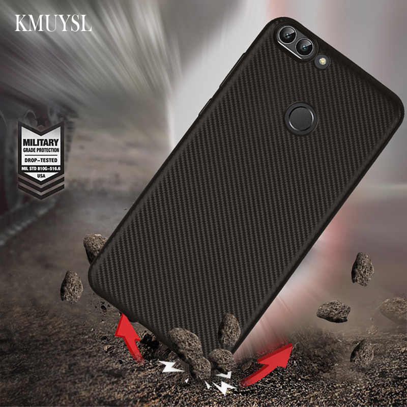 Luxury Carbon Fiber Case For Huawei Y9 Y6 Pro P Smart 2019 P30 Pro P20 P10 P9 Mate 20 Lite On Honor 8X 10 9 Lite Nova 3 3i Cover