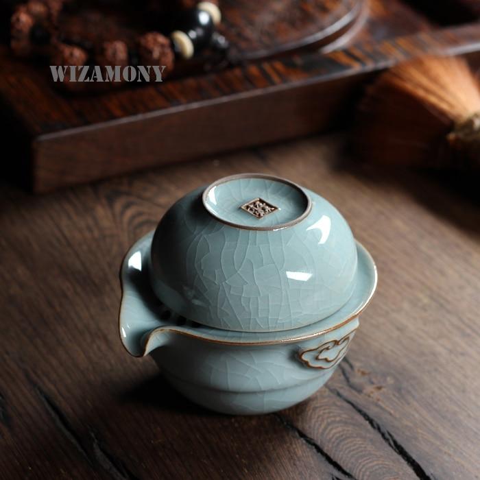 Кунг-фу чай комплект с 1 пот 1 чаша - Кухня, трапезария и бар - Снимка 4