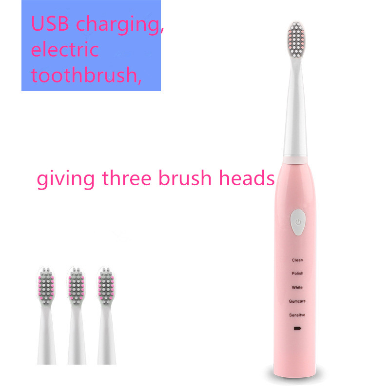 Smart Electric Toothbrush Sonic Wave Rechargeable Top Quality Toothbrush Head Replaceable Teeth Whitening Gum-care 5 Modes image