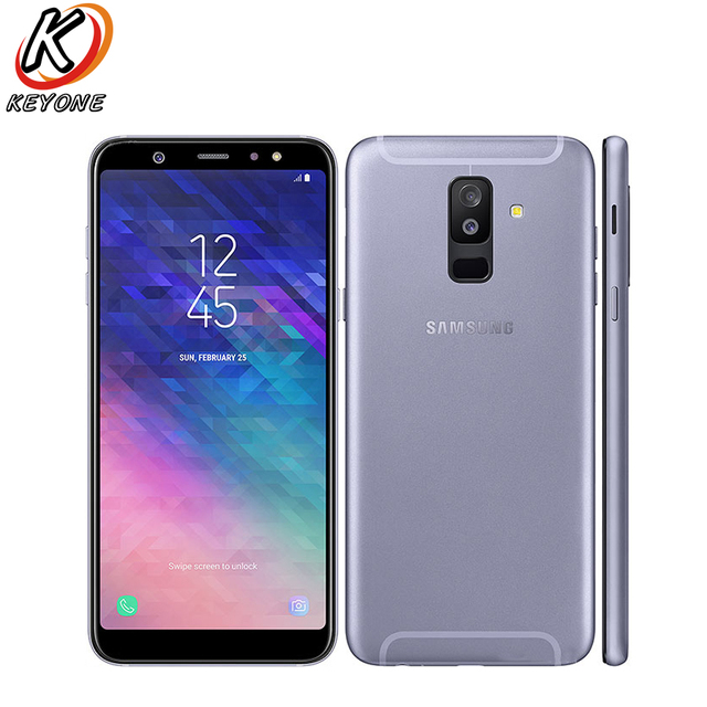 "New Samsung Galaxy A6 plus A6+ A6050 Mobile Phone 6.0"" 4GB RAM 64GB ROM Octa Core Snapdragon Android 8.0 Dual rear camera phone"