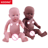 KIDDING 2pcs/lot 16 Baby Reborn Dolls Vinyl Silicone Baby Doll Toys Little Girl Boy Shower Dolls Kid's Playmates Christmas Gift