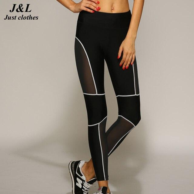 JLZLSHONGLE Sporting Sexy Style Women Leggings Black Mesh Fitness Pants Legging Slim Women's Clothing calzas deportivas mujer