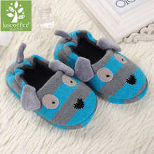 2016 Winter 1 to 6 years old kids slippers boy and girl household cotton shoes good quality keep warm cartoon children shoes