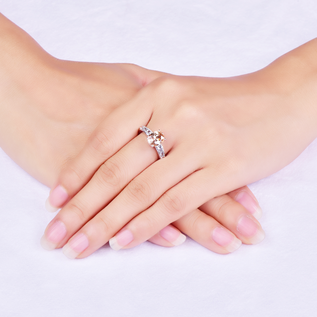 Lingmei Fashion Champagne Rings For Women Birthday Stone party ...
