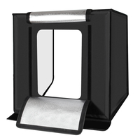 PULUZ 60x60cm Photo Studio softbox Shooting Tent Softbox Light Box photo light tent+Soft Cloth+ 3 Backdrops+ US Plug Power Suply
