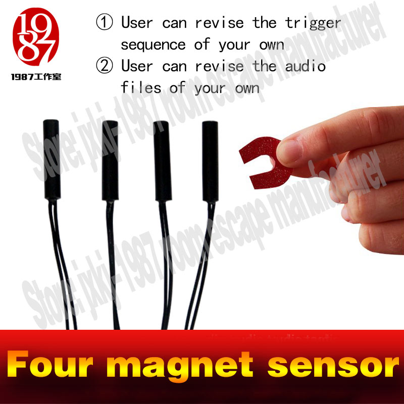 chamber room escape Real life escape game prop hot put magnet sensor in right order to release lock new run away chamber room