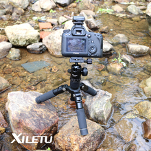 Free shipping XILETU FM5 MINI Aluminum Tripod Stable Desktop Tripod Ball Head For Digital camera Mirrorless