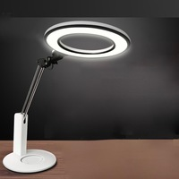 Oogbescherming Lamp Tafel Leeslamp Beschermende Verminderen Blauw Licht Led Chip GE Filter Rotatie Touch Slide Switch Wit