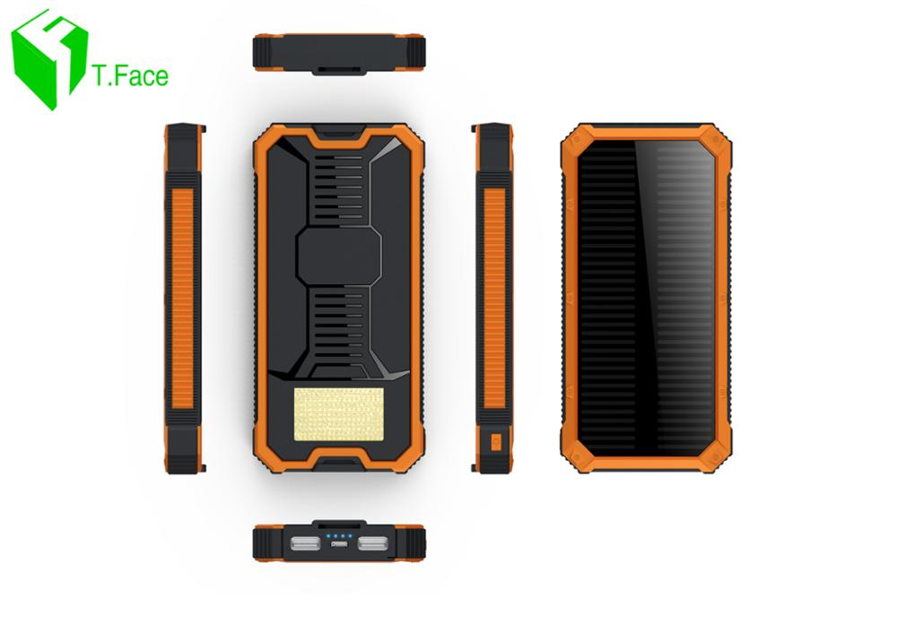 T. Cara Pover Poverbank Teléfono Celular Banco de la Energía Móvil Solar Portáti