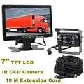 DIYKIT DC 12V-24V 7 inch TFT LCD Car Monitor + 4pin IR Night Vision CCD Rear View Camera for Bus Houseboat Truck