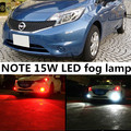 For Nissan NOTE 2008-2015 accessories H8 H11 15W High Power Bright 5730 15 SMD LED Car Fog Driving Light Lamp Bulb