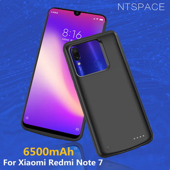 6500mAh Charger Cases For Xiaomi Redmi Note 7 Pro Backup Power Bank Charging Case for Redmi Note 7 External Battery Power Case